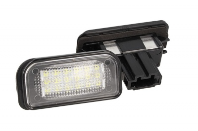 Kit Luci Targa Led Mercedes Benz W203 4D Sedan 18 Smd Bianco Canbus No Errore