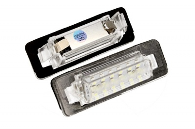 Kit Luci Targa Led Mercedes Benz W210 4D Sedan W202 4D Sedan Bianco Canbus No Errore