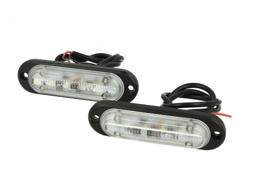 Luci Diurne Led DRLs Driving Light 12V 24V 6X1W IP68 Universale Per Auto Camion